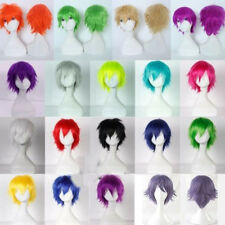 Reusable Anime Cosplay Wig Short Curly Wave Straight Full Wigs Synthetic Hair YY