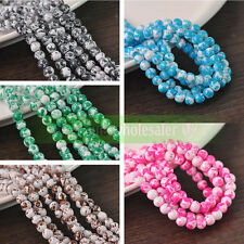 Lots Charms Colorful Crystal Glass Loose Round Spacer Beads 8mm Jewelry Finding