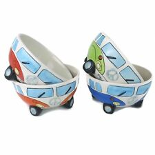 2 x VW Splity'Camper Van Breakfast Cereal Bowl Available 4 Colours-Classic Retro