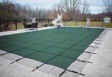 HPI BLOC 99 GREEN Mesh Rectangle Swimming Pool Safety Cover - 12 Yr Limited WTY