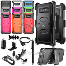 For Samsung Galaxy Note 8 Rugged Holster Dual Layer Case Cover Kickstand & Clip