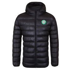 Celtic FC Official Soccer Gift Mens Quilted Hooded Winter Jacket