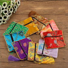 1 Pcs Packaging Bag Silk Brocade Jewelry Floral Fabric Bag Tassel Coin Purse Bag