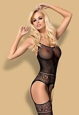 "Sexy Lingerie ""Obssesive"" Bodystocking black G307​,S/M/L (6-12) XL/XXL,UK(14-16)"
