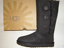 UGG Australia Bailey Button Triplet Tall Boots Black Women's Size 5 -9 NEW !!