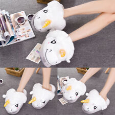 Home cotton slippers Adult Indoor Heel Slippers Warm Plush Unicorn slippers
