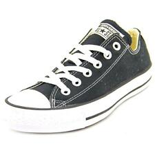Converse Chuck Taylor All Star Ox Women  Round Toe Canvas Black Sneakers NWOB
