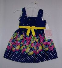 NWTS BONNIE BABY NAVY BUTTERFLY DRESS/PANTY SIZE 12 MONTHS,DRESSY SUMMER NEW