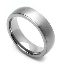Men 9MM Comfort Fit Titanium Wedding Band Brushed Classic Domed Ring