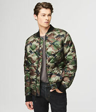 aeropostale mens camo quilted bomber jacket