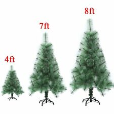 Green 4ft 7ft 8ft Tall Christmas Tree W/Stand Holiday Season Indoor Outdoor SK