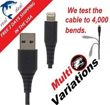 Usb Apple Cable iphone 8 7 6 Plus for Charger Charge Data Sync 6 feet Certified