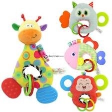 Baby Doll Toy With Teether Animal Stuffed Plush Rattle Ring Doll ESY1 01