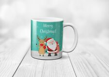 Merry Christmas Santa Claus Coffee Tea Cup Mug Ceramic Gift Celebrate happy
