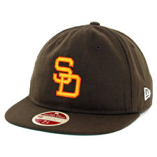 "New Era 5950 San Diego Padres ""Vintage Wool Classic"" Fitted Hat (Brown) Cap"