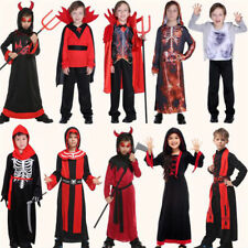 Vampiress Girls Boys Halloween Fancy Dress Vampire Kids Childrens Childs Costume