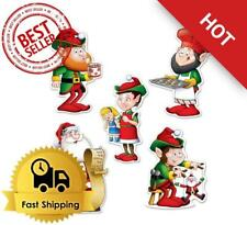 Mini Santa and Elves Cutouts, 5.5 (30-Pack) Winter/Christmas Party Theme