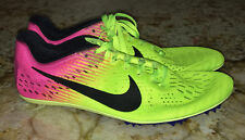 NIKE Zoom Victory 3 OC Volt Pink Black Distance Track Spikes Shoes NEW Mens 9.5