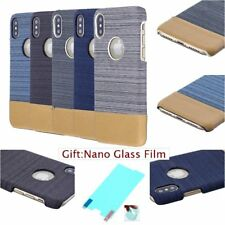 CANVAS FABRIC FASHION Jeans Denim Pattern Hard Back Case Cover For Apple iPhone