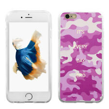 Camouflage Letter Print Phone Case Cover for iPhone Samsung Galaxy S8 Pretty