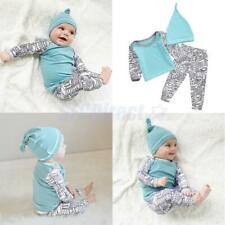 Newborn Baby Boys Girls Kids Clothes Casual T-shirt Tops Long Pants Outfits Sets