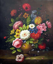 """Paint By Number DIY Acrylic kit Oil Painting Canvas 16X20"""" Colorful flowers 2278"""