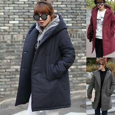 Womens Shawl Hooded Long Puffer Coats Winter Warm Outerwear Korean Style Clothes