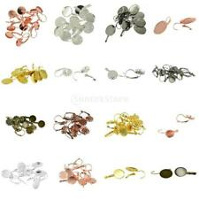 12pcs Multi Color Size Lever Back Earring Findings Ear Clip Jewelry Findings