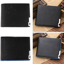 High Quality Thin Wallet Mens PU Leather Bifold ID Credit Card Cash Holder