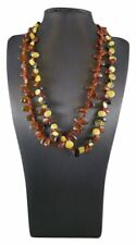Cognac or Multi Baltic Amber Graduated Bead Necklace