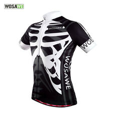 Skeleton Short Sleeve Cycling Jersey Breathable Shirt Quick Dry Bike Clothing