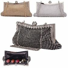 Ladies Women Clutch Purses Crystal Rhinestone Party Evening Handbag Wedding Bag