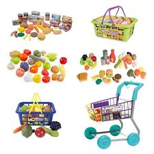 Casdon Shopping Trolley Play Food Sets Pretend Food Tins Mini Shopping TOY NEW