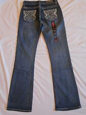 Rock & Roll Cowgirl NWT Juniors Jeans Bootcut Mid Rise W1-2460 Rodeo Bling