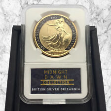 1 OZ 2017 FINE SILVER BRITANNIA COIN- 24K GOLD & BLACK MIDNIGHT DAWN COLLECTION