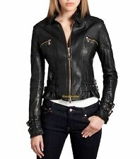 New Original Klassic Golden Collections Lambskin Leather Jacket For Women W316