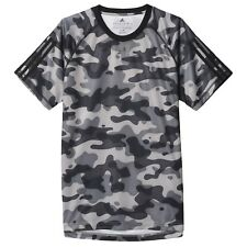 Mens adidas Base 3-Stripe T-Shirt Camouflage Size X-Small NEW AJ5749