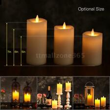 Electric Flameless LED Candle Light Flickering Decor Lamp & Remote Control A2Q8