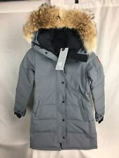 NEW CANADA GOOSE SHELBURNE PARKA MID GREY WOMEN 3802L DOWN COYOTE RUFF AUTHENTIC