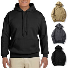 Mens Heavy Blend Plain Hooded Sweatshirt Sweat Hoody Jumper Pullover Hoodie