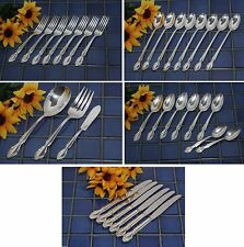 Rogers Silverplate LADY DENSMORE BASQUE WOODLAND ROSE Knives Forks Spn FREE SHIP