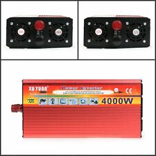 4000W 1800W Car Vehicle USB DC 12V to AC 110V Power Inverter Adapter Converter