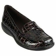 Clarks Bendables Bayou Leather Croco Embossed Slip-on Loafer Flats 7.5 W $72