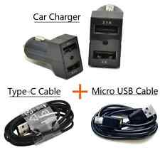 Car Charger Dual Ports / Type-C USB Cable / Micro USB Cable For HTC LG Samsung