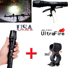 Ultrafire Zoom 20000LM  XMLT6 LED 5Modes Flashlight Torch Lamp+360° Mount Clip