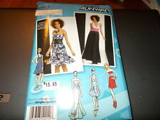 Simplicity Pattern 2212 Ms PROJECT RUNWAY Dress in 2 Lengths w/Bodice Variations