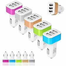 2A 2.1A Triple 3-Port USB Car Charger Adapter For Android iPhone Samsung ipod