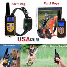 Electric Remote Dog Training Shock Collar 800 Yard Waterproof Rechargeable LCD