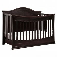 Convertible Baby Crib Espresso 4 In 1 Toddler Daybed Full Size Bedroom Furniture