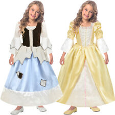 Reversible Princess and Pauper Costume 2 in 1 Maid S M L Gown 3-11 Years Amscan